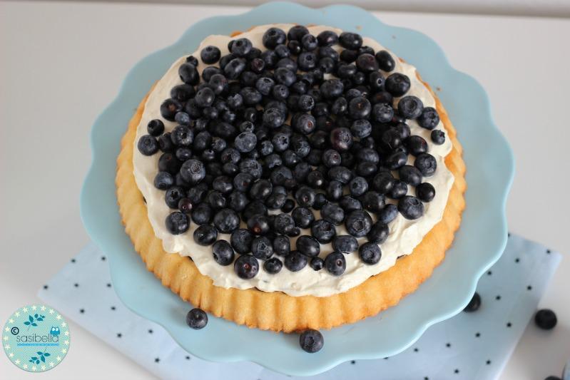 Mascarpone-Quark Torte mit frischen Heidelbeeren und ein kleiner Kinderzimmer-Einblick! 2