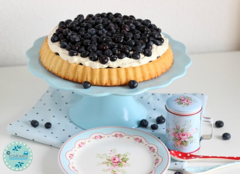 Mascarpone-Quark Torte mit frischen Heidelbeeren und ein kleiner Kinderzimmer-Einblick! 4