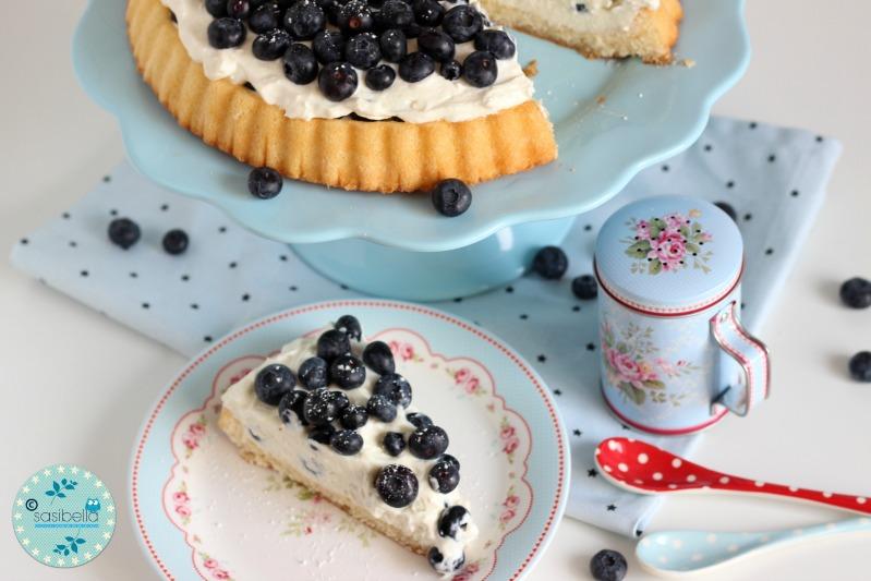Mascarpone-Quark Torte mit frischen Heidelbeeren und ein kleiner Kinderzimmer-Einblick! 10