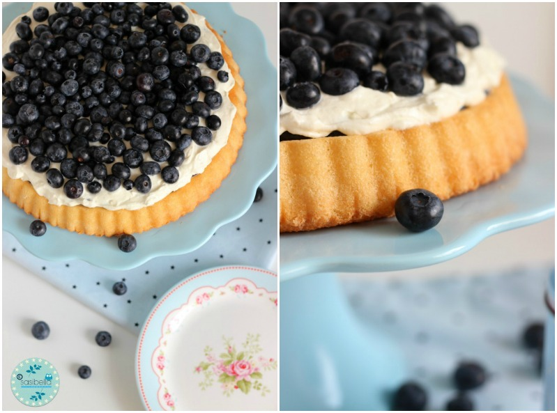 Mascarpone-Quark Torte mit frischen Heidelbeeren und ein kleiner Kinderzimmer-Einblick! 3