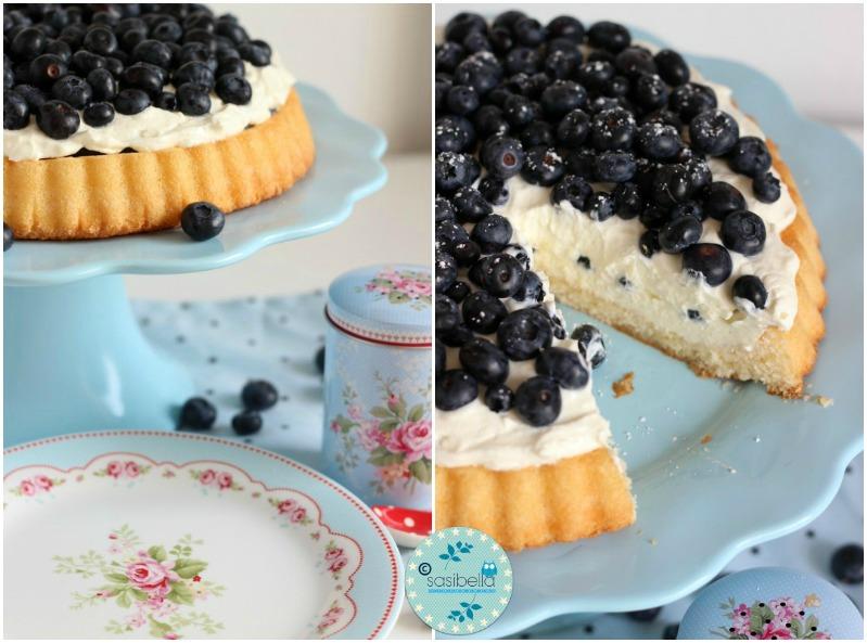 Mascarpone-Quark Torte mit frischen Heidelbeeren und ein kleiner Kinderzimmer-Einblick! 7