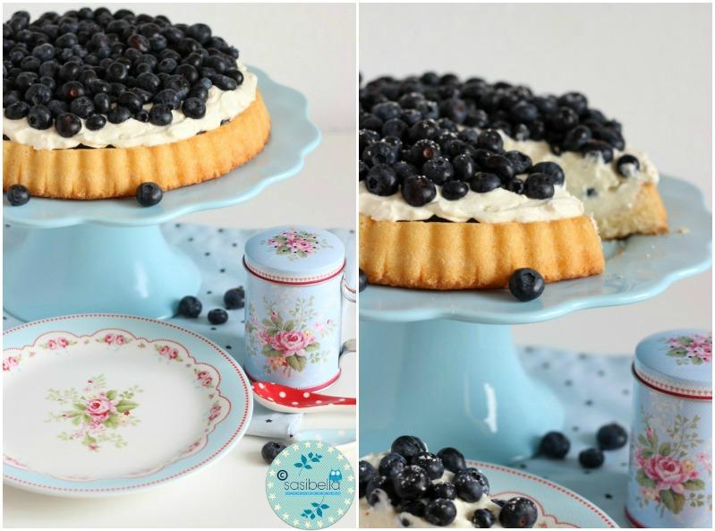 Mascarpone-Quark Torte mit frischen Heidelbeeren und ein kleiner Kinderzimmer-Einblick! 9