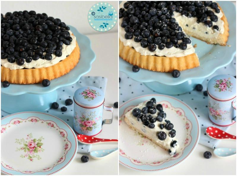 Mascarpone-Quark Torte mit frischen Heidelbeeren und ein kleiner Kinderzimmer-Einblick! 11