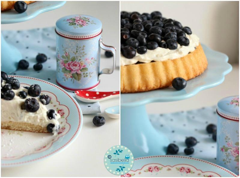 Mascarpone-Quark Torte mit frischen Heidelbeeren und ein kleiner Kinderzimmer-Einblick! 14