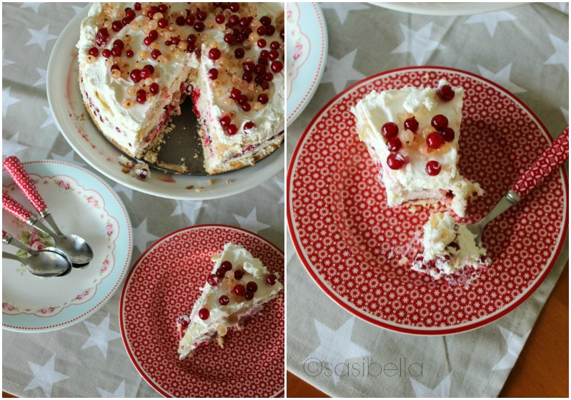 Johannisbeer-Creme Torte mit 3 Knusperböden 5