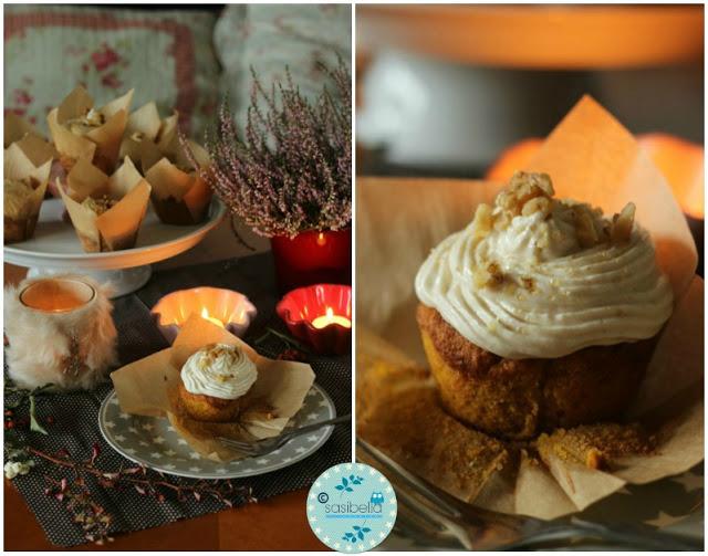 Kürbis Gewürz Cupcakes mit Zimt Frosting 1