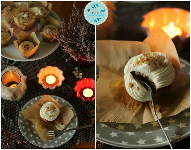 Kürbis Gewürz Cupcakes mit Zimt Frosting 4