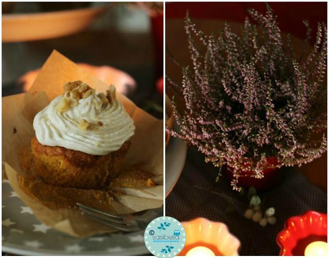 Kürbis Gewürz Cupcakes mit Zimt Frosting 2