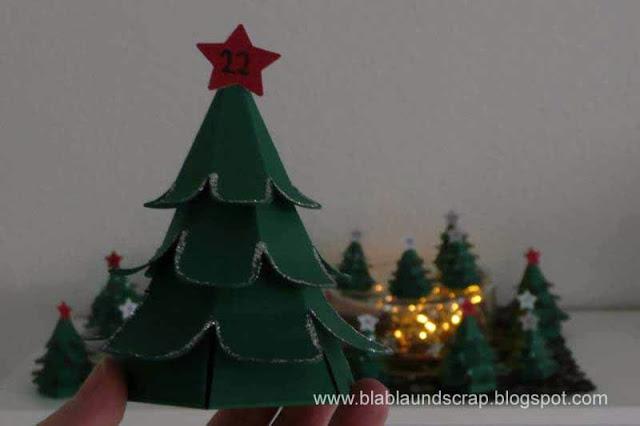"""Adventskalendertürchen # 1 - Gastpost von Silvia """"Weihnachtsbaum Adventskalender"""" 19"""