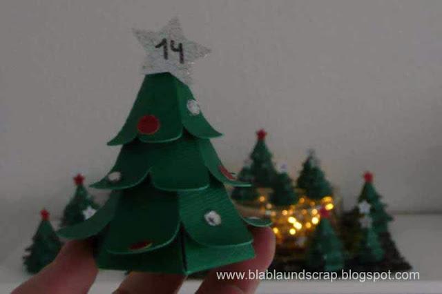 """Adventskalendertürchen # 1 - Gastpost von Silvia """"Weihnachtsbaum Adventskalender"""" 20"""