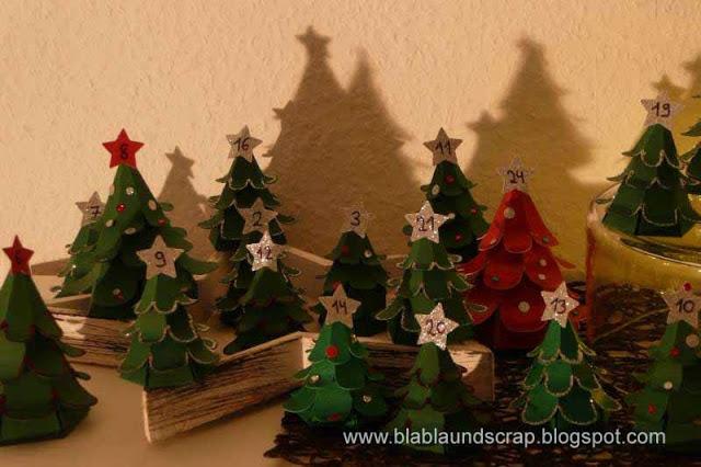 """Adventskalendertürchen # 1 -  Gastpost von Silvia """"Weihnachtsbaum Adventskalender"""" 23"""
