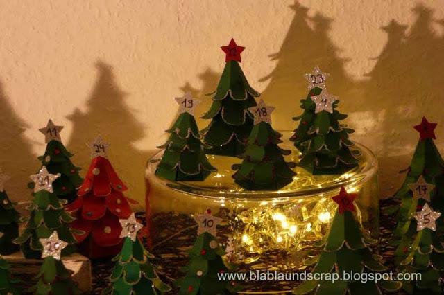 """Adventskalendertürchen # 1 -  Gastpost von Silvia """"Weihnachtsbaum Adventskalender"""" 17"""