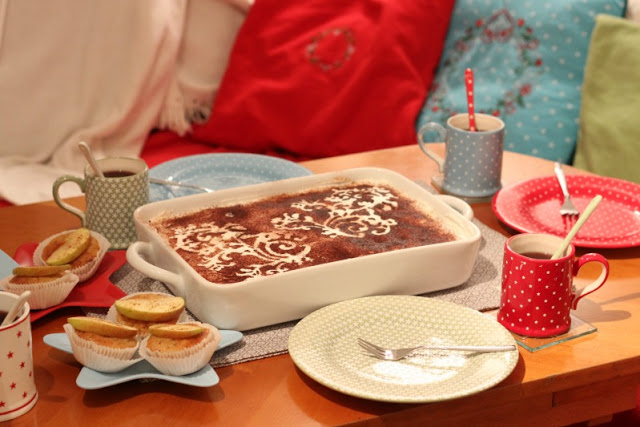 Adventskalendertürchen # 22  Lebkuchenschnitten mit Kirschkompott + Früchtepunsch + meine Weihnachtswerkeleien 3