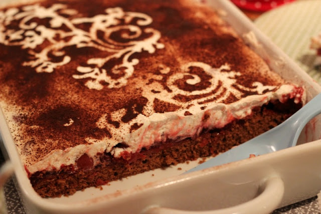 Adventskalendertürchen # 22  Lebkuchenschnitten mit Kirschkompott + Früchtepunsch + meine Weihnachtswerkeleien 31