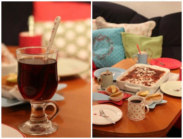 Adventskalendertürchen # 22  Lebkuchenschnitten mit Kirschkompott + Früchtepunsch + meine Weihnachtswerkeleien 2