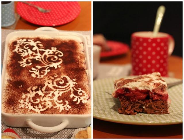 Adventskalendertürchen # 22  Lebkuchenschnitten mit Kirschkompott + Früchtepunsch + meine Weihnachtswerkeleien 4
