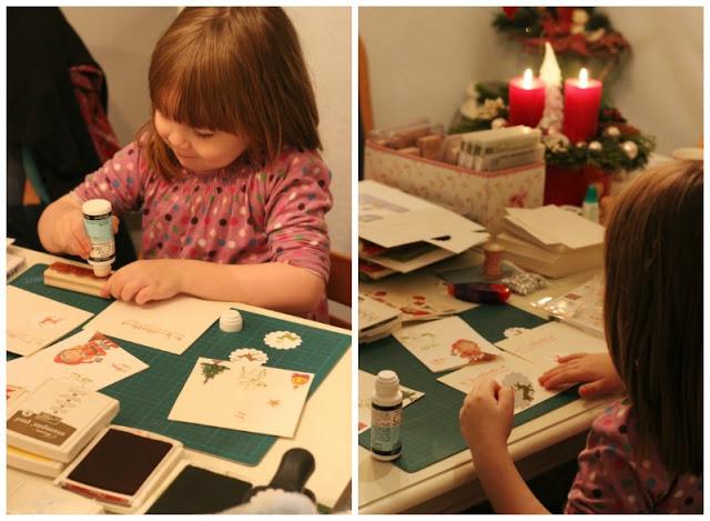Adventskalendertürchen # 22  Lebkuchenschnitten mit Kirschkompott + Früchtepunsch + meine Weihnachtswerkeleien 12