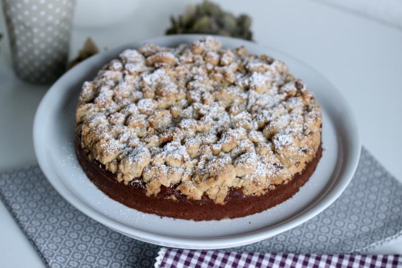 Brownie Tarte mit Baileys-Walnuss-Streuseln 2