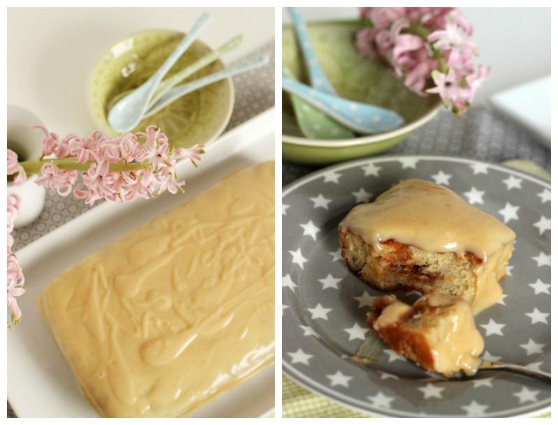 Banana-Sour Cream Cake mit Karamel und White Chocolate Frosting 20