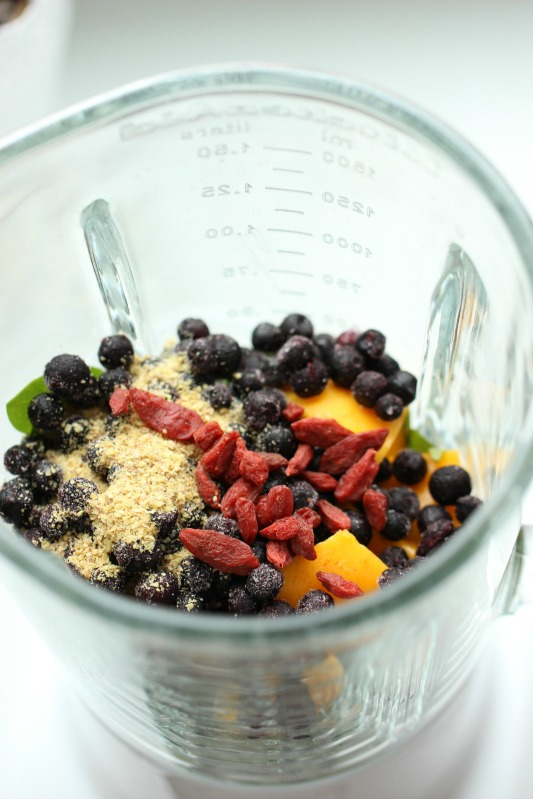 Smoothie of the Day -  Tropical-Mango- Blueberry 9