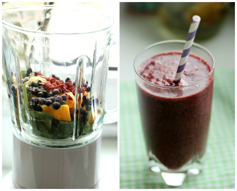 Smoothie of the Day -  Tropical-Mango- Blueberry 10