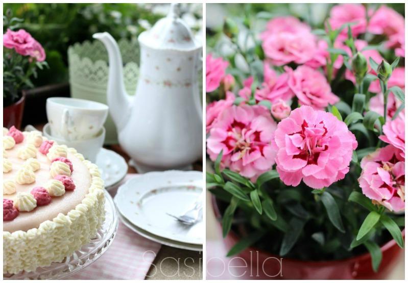 Einfache Marzipan-Himbeersahne Torte zum Geburtstag 1