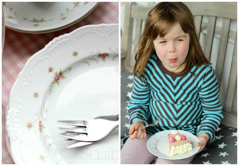 Einfache Marzipan-Himbeersahne Torte zum Geburtstag 3
