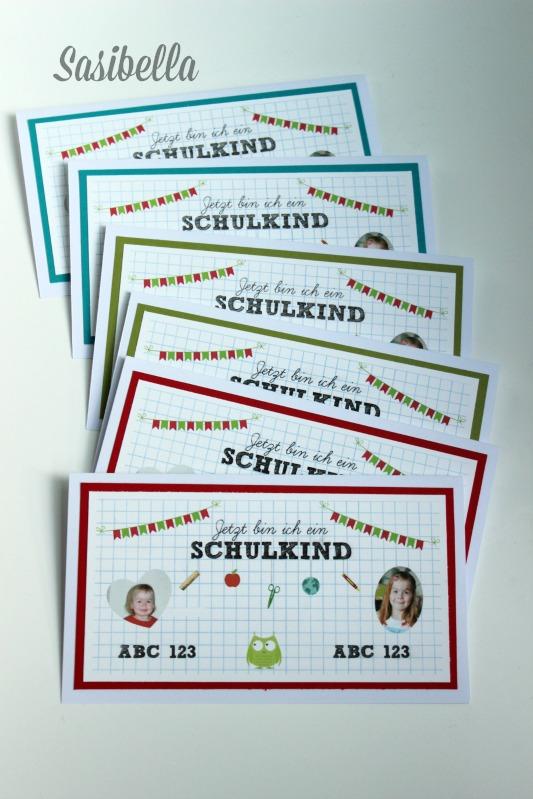 Einladungskarten zur Einschulung 1