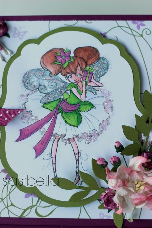 Easelcard zum Geburtstag mit Mo Mannings Teen Fairy Pia 1