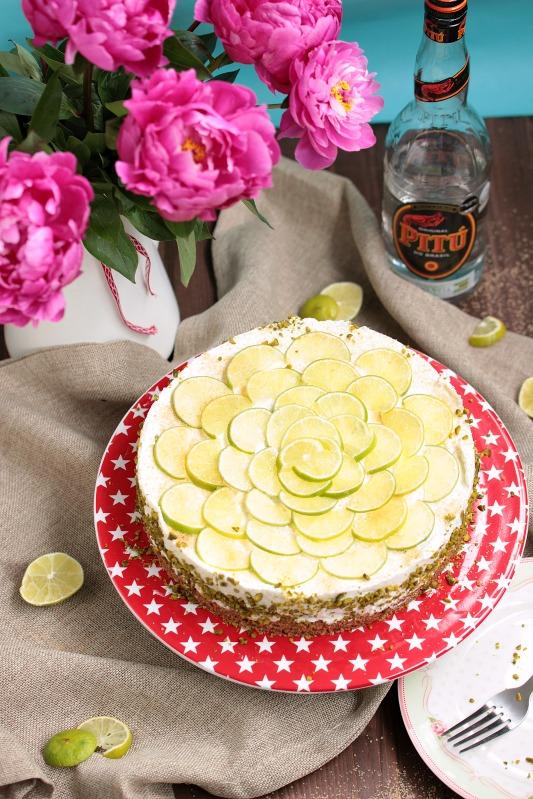 Caipirina Torte oder No-Bake Limetten Schmandtörtchen 35
