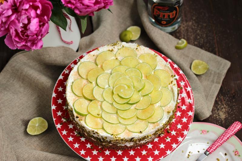 Caipirina Torte oder No-Bake Limetten Schmandtörtchen 38