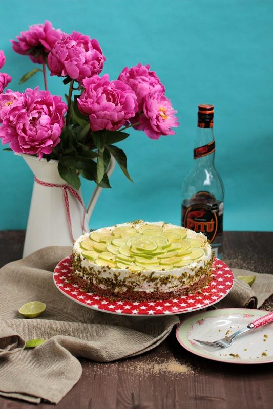 Caipirina Torte oder No-Bake Limetten Schmandtörtchen 39
