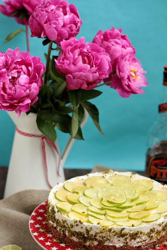 Caipirina Torte oder No-Bake Limetten Schmandtörtchen 45