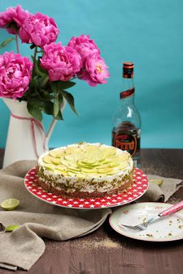 Caipirina Torte oder No-Bake Limetten Schmandtörtchen 47