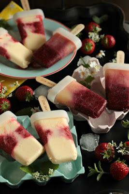 Eis am Stiel - Erdbeer Vanille und Kirsch Banane 40