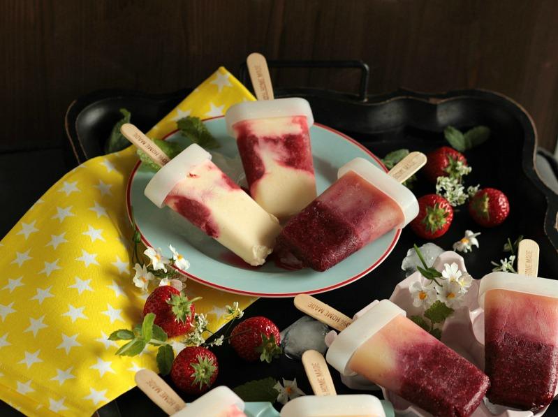 Eis am Stiel - Erdbeer Vanille und Kirsch Banane 44