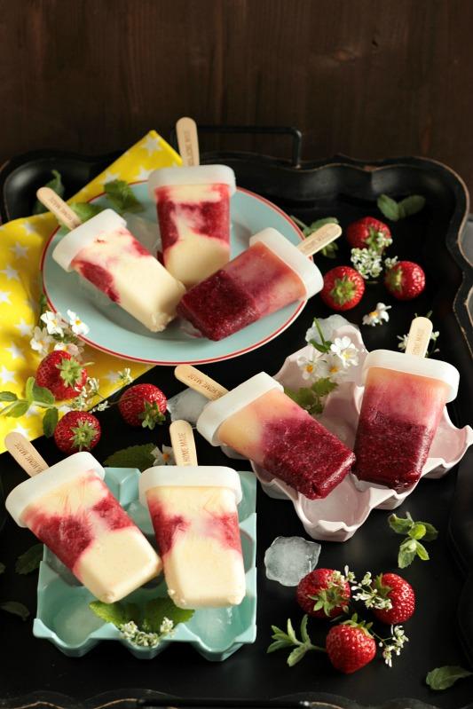 Eis am Stiel - Erdbeer Vanille und Kirsch Banane 43