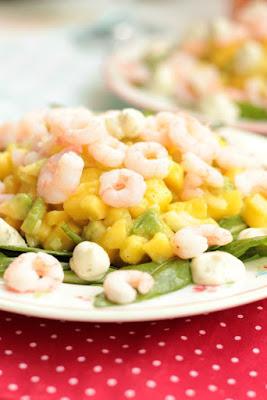 Mango-Avocado Salsa mit Garnelen 6