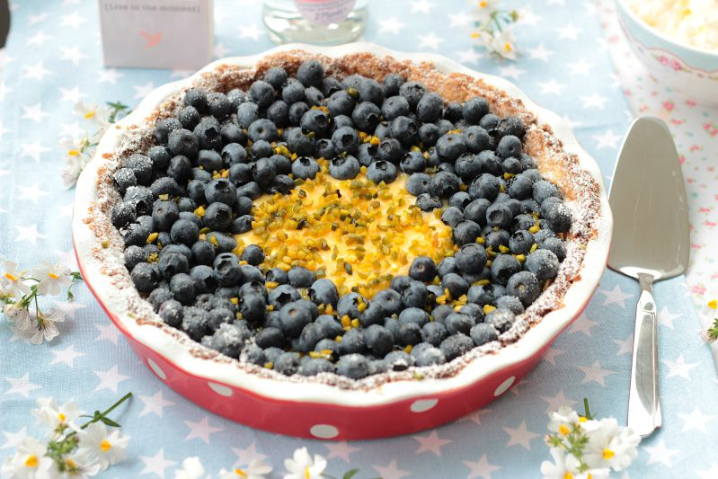 Blaubeer-Lemoncurd Tarte 39