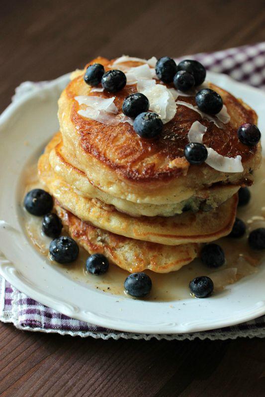 Buttermilch-Blaubeer Pancakes 2