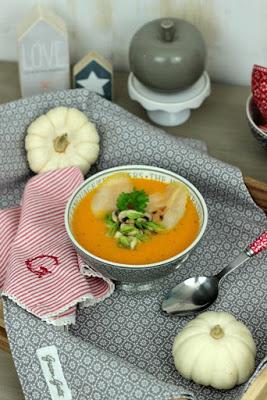 Kürbissuppe mit karamelisierten Birnen 11