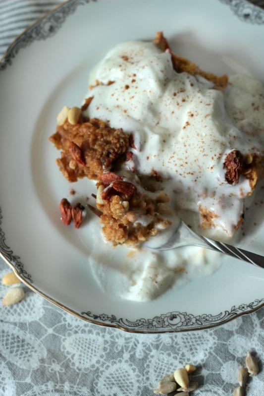 Kürbiskuchen Ofen-Porridge / Das etwas andere Frühstück* 7