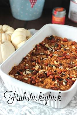 Kürbiskuchen Ofen-Porridge / Das etwas andere Frühstück* 2
