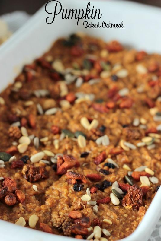 Kürbiskuchen Ofen-Porridge / Das etwas andere Frühstück* 11