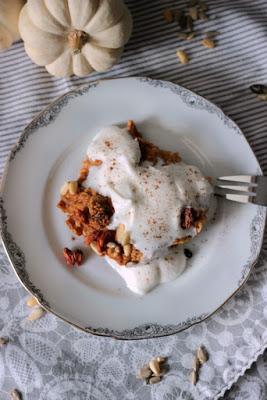 Kürbiskuchen Ofen-Porridge / Das etwas andere Frühstück* 6