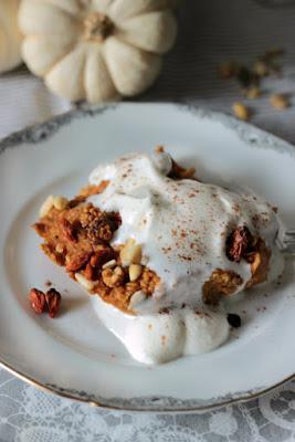 Kürbiskuchen Ofen-Porridge / Das etwas andere Frühstück* 9