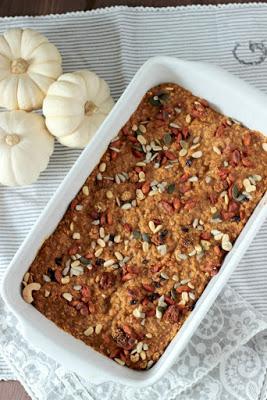 Kürbiskuchen Ofen-Porridge / Das etwas andere Frühstück* 3