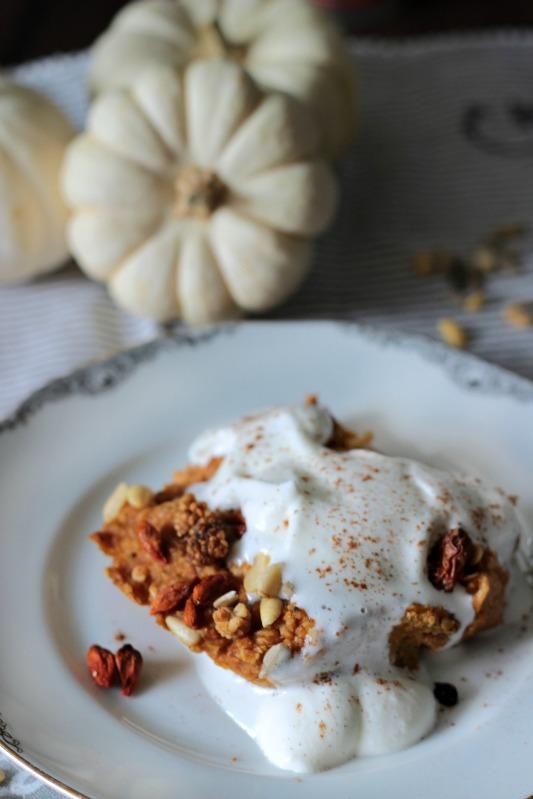 Kürbiskuchen Ofen-Porridge / Das etwas andere Frühstück* 10