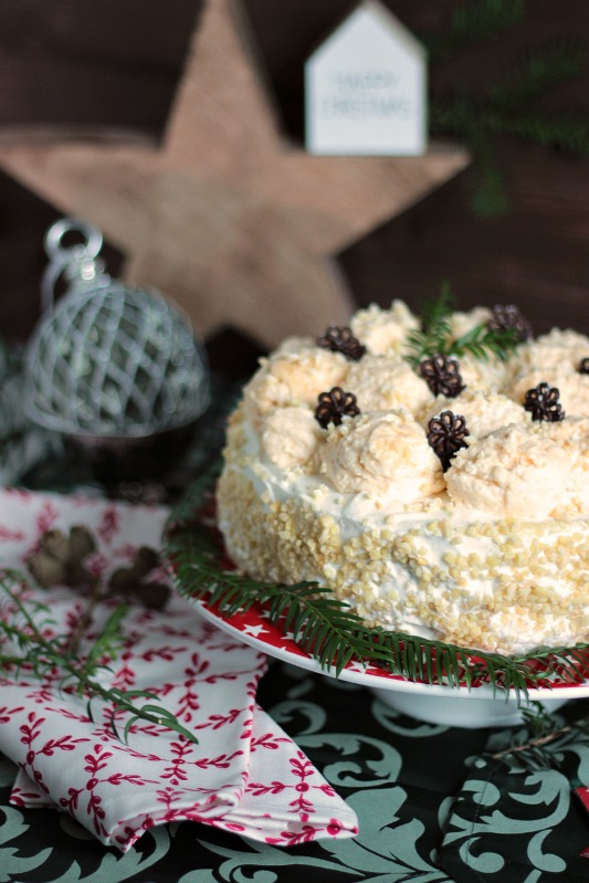 Marzipan-Schneeballtorte mit Mohnmousse / Türchen Nr.20 29