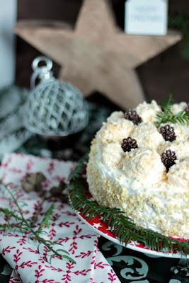 Marzipan-Schneeballtorte mit Mohnmousse / Türchen Nr.20 34